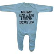 Bang Tidy Clothing Baby Boy's I'm Just Like Mum I Never Shut Up! Rompersuit