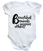 HippoWarehouse BEAUTIFUL MINDS INSPIRE OTHERS baby vest boys girls