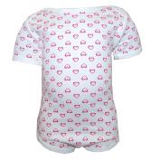 FIXONI - Bodysuit baby Girls Short Sleeve heart, beige