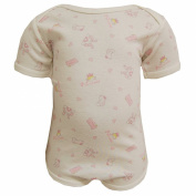 FIXONI - Bodysuit baby Girls Short Sleeve Teddy and hearts, off-white