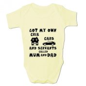 Bang Tidy Clothing Baby Girl's Got My Own Cribs Cars and Servants Baby Grow Bodysuit
