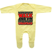 Bang Tidy Clothing Baby Girl's I Can't Even Walk And I'm Faster Than Grandad Rompersuit
