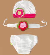 Bigood(TM) Newborn Girl Boy Crochet Clothes Baby Photograph Props Bathing Suit