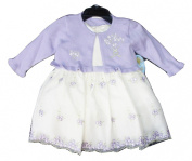 CINDERELLA Cream White with Purple Floral Embroidery Detail Cardigan & Dress