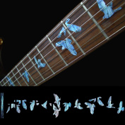 Fretboard Markers Inlay Sticker Decals for Guitar & Bass - Birds in Flight-AB