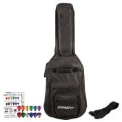 GO-DPS ChromaCast Electric Guitar 6-Pocket Padded Gig Bag with Guitar Strap and Pick Sampler