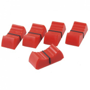5 Pcs Mixed Slider Fader Knobs 8mm Standard Fit Red Black