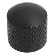 MicroMall(TM) Metal Push-On Guitar Knobs Coarse Knurl Black
