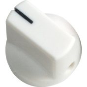 Knob - White, Black Line, Small, Set Screw