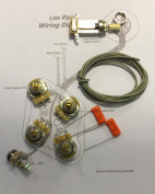 Deluxe Basic Short Shaft Wiring Kit for Gibson Les Paul® - CTS 500K Pots, .022uf/400v Orange Drop Caps