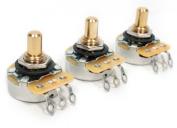 3 Bulk Pack Genuine CTS Tone / Volume 250K Solid Shaft Pots for Fender Tele