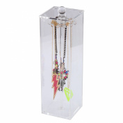 Clear Acrylic Necklace And Bracelet Storage Case Box Jewellery Organiser Display Holder