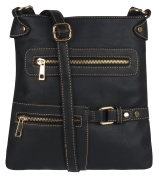 Piper Womens Faux Leather Cross Body Messenger Ladies Shoulder Bag