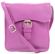Womens Luxury Soft Leather Handbag / Shoulder Bag / Cross Body Bag / Black / Navy / Pink / Purple / Stone