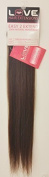 Love Hair Extensions Easy-2-Extend Afro-Relaxed Straight Human Hair Clip In Extensions 46cm long in 4B Tobacco Brown