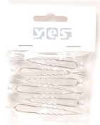 Hair Accessories Hairpin with Bead White 6 Pieces