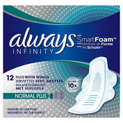 Always Infinity Normal Plus Sanitary Towels with Wings 12 per pack
