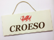 Wales Welcome 'Croeso' Contemporary Decoorative Sign [pnd]