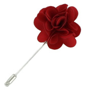Red Flower Lapel Pin