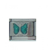 March Birthmonth sparkly BUTTERFLY Italian charm - fits Nomination bracelets