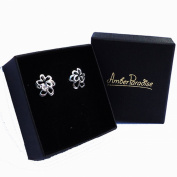 Sterling Silver 925 Double Open Flower Studs+Gift Packaging.