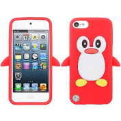 Red Penguin Silicon Soft Rubber Skin Case Cover For Apple iPod Touch iTouch 5