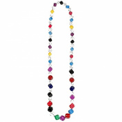 Joe Cool lucky dice multi-coloured Necklace bead strand made from resin