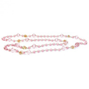 Joe Cool 120cm pink hearts & crystals Necklace made from glass pearl