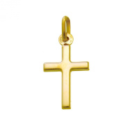 Small 9ct Gold Cross Pendant Necklace With Gift Box