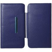 Blue Pouch Wallet Detachable Case Cover For HTC One M7
