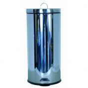 MSV 100359 Bin with Mirror Stainless Steel/30 Litres Polypropylene