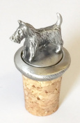 Scottish Scottie Dog Hand Crafted Pewter Bottle Stopper Wine Saver