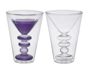 BITOSSI HOME Martini Cocktail Double Wall, Set of 2