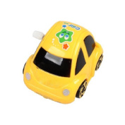 TOOGOO(R) Yellow Plastic Wind-up Clockwork Racing Car Toy for Children