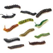 Plastic Twisty Worm Party Favours Tricks Pack of 12 Multi-colour