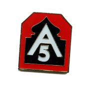Badge 5th USA US Army Badge / Button Pin / Badge Metal 0027