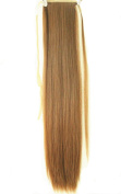 50cm Synthetic Long Straight Curly Wavy Clip In Pony Tail Hair Extension Wrap Around Ponytail Hair Extension Piece