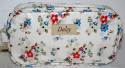 Summer Daisy Floral Oil Cloth Mini Wash / Cosmetic Bag