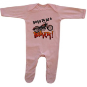 Bang Tidy Clothing Baby Girl's Born To Be A Biker Funny Rompersuit