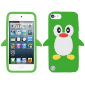 Green Penguin Silicon Soft Rubber Skin Case Cover For Apple iPod Touch iTouch 5