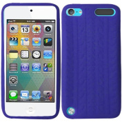 Blue Tire Tread Silicon Soft Rubber Skin Case Cover For Apple iPod Touch iTouch 5