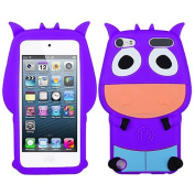 Purple Cow Silicon Soft Rubber Skin Case Cover For Apple iPod Touch iTouch 5
