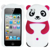 Red White Panda Bear Silicon Soft Rubber Skin Case Cover For Apple iPod Touch iTouch 4 4G