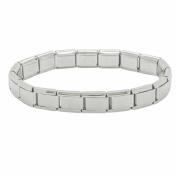 18 Link Matt Daisy Charm Classic Size Italian Charm Starter Bracelet - Stainless Steel - Fits Nomination