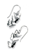 Elements Sterling Silver Women's E4563 Triple Butterfly Drop Earring