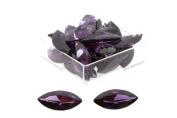 Birth Stone Jewels 15x7mm Purple Amethyst Marquise Cubic Zirconia Gem Stones Pack Of 2