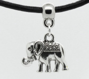 Small boho elephant charm on Premium quality leather choker / necklace (chocker)* Made in UK *