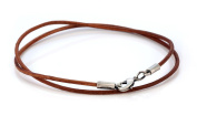 Bico 2mm Brown Leather Necklace Long (CL8 Brown) Tribal Street Jewellery