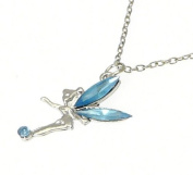 Beautiful Fairy Pendant On Fully Adjustable Silver Colour Chain OR Cord Friendship Bracelet OR Bag Charm