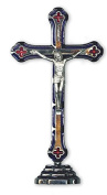 15cm or 20cm Polished Silver Metal CRUCIFIX CROSS Free Standing BNIB